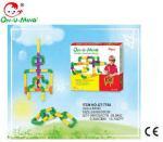 On-u-mind: tubular creative blocks [40 pieces] 40 pieces multi-colored plastic tubular blocks