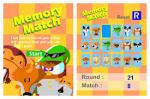 Memory match 32 stuffed animal cards; 2 wild cards